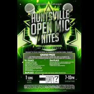 huntsville Open Mic Night