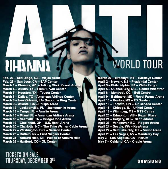 Rihanna S Anti World Tour Dates Announced
